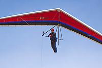 Close-up of a hang glider over O'ahu.
