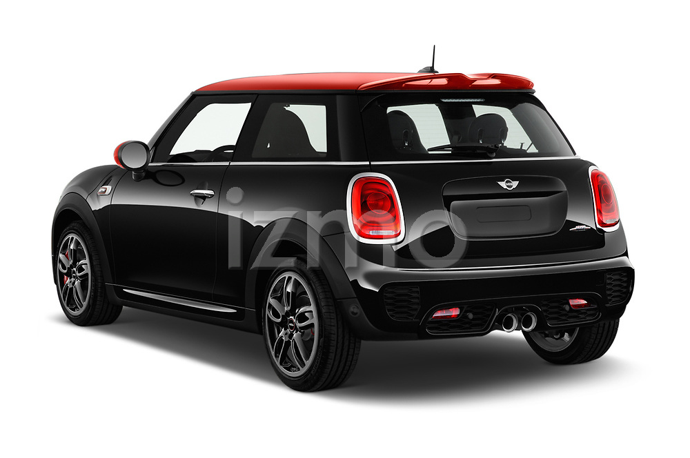 Car pictures of rear three quarter view of a 2017 Mini MINI John Cooper Works 3 Door Hatchback angular rear