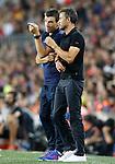 FC Barcelona's coach Luis Enrique Martinez (r) and his second Juan Carlos Unzue during Supercup of Spain 2nd match.August 17,2016. (ALTERPHOTOS/Acero)