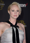 Gwendoline Christie at Star Wars: The Force Awakens World Premiere held at El Capitan Theatre in Hollywood, California on December  14,2015                                                                   Copyright 2015Hollywood Press Agency