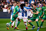 Chidozie Collins Awaziem of CD Leganes and Igor Zubeldia of Real Sociedad
