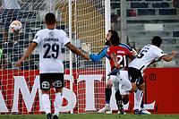 11th March 2020; Estadio Monumental David Arellano; Santiago, Chile; Copa Libertadores, Colo Colo versus Athletico Paranaense; Pablo Mouche of Colo-Colo scores his goal in the 11th minute 1-0