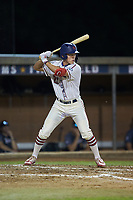 DeAngelo Giles (23) (NC State) of the High Point-Thomasville HiToms at bat against the Wilson Tobs at Finch Field on July 17, 2020 in Thomasville, NC. The Tobs defeated the HiToms 2-1. (Brian Westerholt/Four Seam Images)