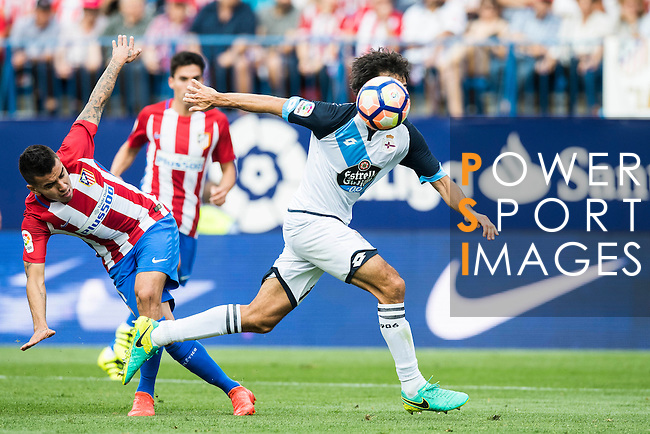 Arribas of Deportivo de la Coruna in action during their La Liga match between Atletico Madrid and Deportivo de la Coruna at the Vicente Calderon Stadium on 25 September 2016 in Madrid, Spain. Photo by Diego Gonzalez Souto / Power Sport Images