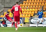 St Johnstone v AberdeenÖ23.02.19Ö  McDiarmid Park    SPFL<br /> Graeme Shinnie scores fro Aberdeen<br /> Picture by Graeme Hart. <br /> Copyright Perthshire Picture Agency<br /> Tel: 01738 623350  Mobile: 07990 594431