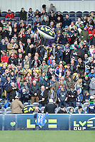 20130317 Copyright onEdition 2013©.Free for editorial use image, please credit: onEdition..LV= branded balls entertain the crowds before the kick off of the LV= Cup Final between Harlequins and Sale Sharks at Sixways Stadium on Sunday 17th March 2013 (Photo by Rob Munro)..For press contacts contact: Sam Feasey at brandRapport on M: +44 (0)7717 757114 E: SFeasey@brand-rapport.com..If you require a higher resolution image or you have any other onEdition photographic enquiries, please contact onEdition on 0845 900 2 900 or email info@onEdition.com.This image is copyright onEdition 2013©..This image has been supplied by onEdition and must be credited onEdition. The author is asserting his full Moral rights in relation to the publication of this image. Rights for onward transmission of any image or file is not granted or implied. Changing or deleting Copyright information is illegal as specified in the Copyright, Design and Patents Act 1988. If you are in any way unsure of your right to publish this image please contact onEdition on 0845 900 2 900 or email info@onEdition.com