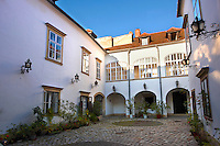 Inner courtyards of houses in  Sopron, Hungary
