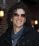 NEW YORK, NY - FEBRUARY 01: Radio personality Howard Stern arrives to 'Late Show with David Letterman' at Ed Sullivan Theater on February 1, 2012 in New York City