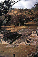 World Civilization:  Mayan Culture--Copan, view to North over Ballcourt A-III with hieroglypic stairway visible at right.  William L. Fash, SCRIBES, WARRIORS & kINGS, Thames & Hudson, 1991.