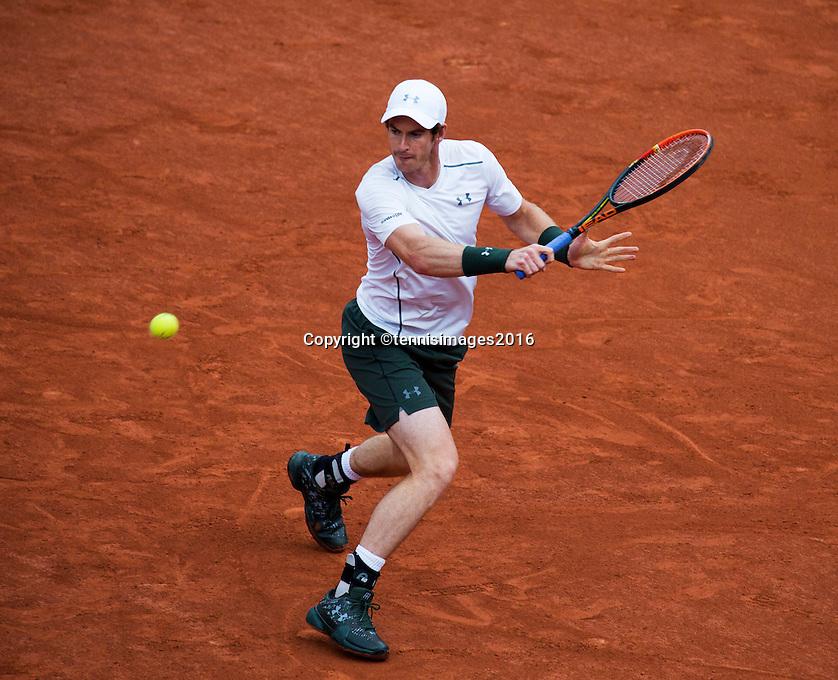 Paris, France, 23 june, 2016, Tennis, Roland Garros, Andy Murray (GBR) <br /> Photo: Henk Koster/tennisimages.com