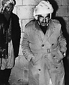 Iraq 1963 .On april 4, Mustafa Barzani in Koysanjak , leaving the house  and going to the Pan Kurdish conference.Irak 1963.Le 4 avril, Mustafa Barzani quiite sa maison de Koysanjak pour se rendre a la Conference kurde