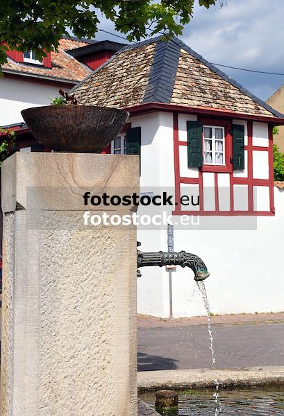 Brunnen auf dem Kirchplatz von Sankt Johann