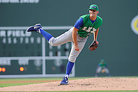 Pitcher Christian Binford (30) of the Lexington Legends in a game against the Greenville Drive on Monday, July 22, 2013, at Fluor Field at the West End in Greenville, South Carolina. Binford is the No. 26 prospect of the Kansas City Royals. Lexington won, 7-3. (Tom Priddy/Four Seam Images)