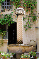 Brunnen im Palazzo Falson, Malta, Europa