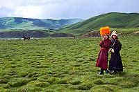 Children from Orange Hat Tribe in Kham, Tibet Kham, Tibet, 2005.