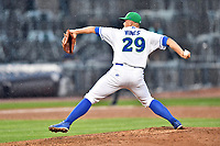Southern Division pitcher Jace Vines (29) of the Lexington Legends delivers a pitch during the South Atlantic League All Star Game at Spirit Communications Park on June 20, 2017 in Columbia, South Carolina. The game ended in a tie 3-3 after seven innings. (Tony Farlow/Four Seam Images)