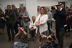 Marketa Luskacova photographer (sitting) party for her exhibition at the MPF  Bristol UK 2019, 2010s,