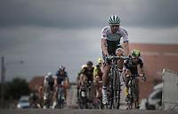Kristian House (GBR/One) over the cobbles<br /> <br /> 101st Kampioenschap van Vlaanderen 2016 (UCI 1.1)<br /> Koolskamp › Koolskamp (192.4km)