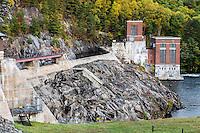 The Conklingville Dam, in Hadley, Saratoga County, New York, USA.