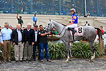 January 16, 2016:  Stageplay with Florent Geroux up in the winners circle for winning the Silverbulletday Stakes race in New Orleans Louisiana. Steve Dalmado/ESW/CSM