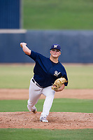 AZL Brewers relief pitcher Michael Gonzalez (41) delivers a pitch to the plate against the AZL Padres 2 on September 2, 2017 at Maryvale Baseball Park in Phoenix, Arizona. AZL Brewers defeated the AZL Padres 2 2-0. (Zachary Lucy/Four Seam Images)