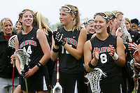 20 June 2006: Katharine Fox during Stanford's 17-9 loss to Northwestern in the first round of the 2006 NCAA Lacrosse Championships in Evanston, IL. Stanford made it to the NCAA's for the first time in school history.