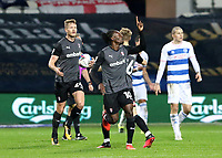 EDIT: second goal scored for Rotherham United by Freddie Ladapo of Rotherham United as she celebrates during Queens Park Rangers vs Rotherham United, Sky Bet EFL Championship Football at The Kiyan Prince Foundation Stadium on 24th November 2020