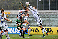 Sofia Meneghini and Francesca Durante of Hellas Verona during the women Serie A football match between US Sassuolo and Hellas Verona at Enzo Ricci stadium in Sassuolo (Italy), November 15th, 2020. Photo Andrea Staccioli / Insidefoto