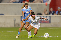 Chicago, IL - Wednesday Sept. 07, 2016: Sofia Huerta, Desiree Scott during a regular season National Women's Soccer League (NWSL) match between the Chicago Red Stars and FC Kansas City at Toyota Park.