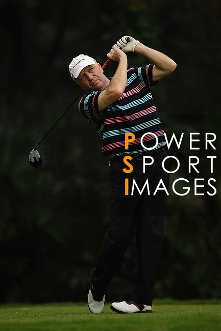 TAIPEI, TAIWAN - NOVEMBER 18:  Doug Young of England tees off on the 5th hole during day one of the Fubon Senior Open at Miramar Golf & Country Club on November 18, 2011 in Taipei, Taiwan.  Photo by Victor Fraile / The Power of Sport Images