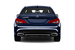 Straight rear view of 2018 Mercedes Benz CLA-Class CLA250 4 Door Sedan Rear View  stock images