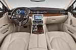Stock photo of straight dashboard view of a 2014 Maserati Quattroporte SQ4 4 Door Sedan Dashboard
