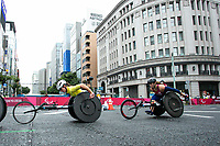Christie Dawes and Eliza Ault-Connell compete in the mens marathon T54 event at the 2020 Tokyo Paralympic Games<br /> Paralympics Australia / Day 12<br /> Tokyo Japan :  Sunday 5th September 2021<br /> © Sport the library / Drew Chislett / PA