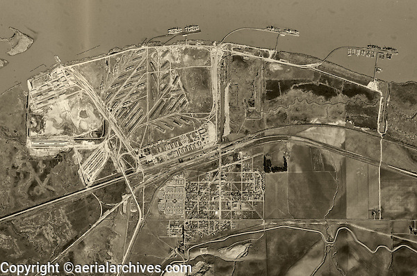 historical aerial photograph of Port Chicago, Contra County, California 1948