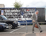 Charles Green larrives at Ibrox Stadium to address staff aster the HMRC vetoed any plans for a CVA