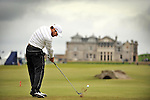 Pic Kenny Smith............. 02/10/2009.Dunhill Links Champioship, St Andrews  Links, Trevor Immelman tees off at the 18th hole during his 2nd round