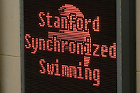 2 February 2008: Signage during Stanford's 90-69 win over Alabama-Birmingham at the Avery Aquatic Center in Stanford, CA.