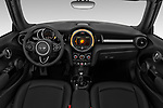 Stock photo of straight dashboard view of 2019 MINI Convertible Cooper-Signature 2 Door Convertible Dashboard