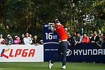 Hyo-joo Kim of China plays a shot during the Hyundai China Ladies Open 2014 at World Cup Course in Mission Hills Shenzhen on December 14 2014, in Shenzhen, China. Photo by Aitor Alcalde / Power Sport Images