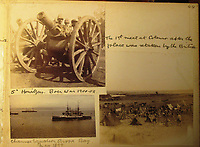 BNPS.co.uk (01202) 558833<br /> Pic: Charles Miller/BNPS<br /> <br /> His images of the Boer War at the turn of the 20th century include encampments as he was in the thick of the action.<br /> <br /> A fascinating photo album compiled by a British naval officer on tour in the Far East at the turn of the 20th century has come to light.<br /> <br /> Taprell Dorling served on the HMS Terrible in 1900 at the start of an over 30 year career at sea.<br /> <br /> The album, containing 74 photos, has emerged for sale with auctioneers Charles Miller, of London, with an estimate of £3,000.