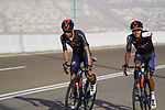 Ivan Ramiro Sosa Cuervo and Brandon Rivera Vargas (COL) Ineos Grenadiers on the final climb of Stage 3 of the 2021 UAE Tour running 166km from Al Ain to Jebel Hafeet, Abu Dhabi, UAE. 23rd February 2021.  <br /> Picture: Eoin Clarke | Cyclefile<br /> <br /> All photos usage must carry mandatory copyright credit (© Cyclefile | Eoin Clarke)