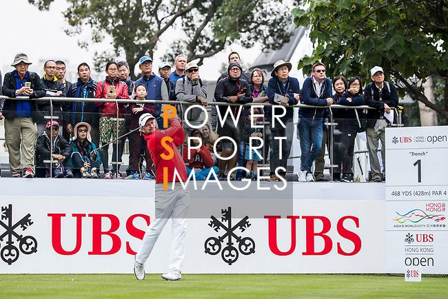 Jamie Donaldson of Wales tees off during the day three of UBS Hong Kong Open 2017 at the Hong Kong Golf Club on 25 November 2017, in Hong Kong, Hong Kong. Photo by Yu Chun Christopher Wong / Power Sport Images