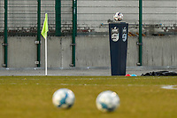 matchball pictured before a female soccer game between FC Femina White Star Woluwe and Sporting Charleroi on the 2nd matchday of Play off 2 in  the 2020 - 2021 season of Belgian Scooore Womens Super League , friday 16 th of April 2021  in Woluwe , Belgium . PHOTO SPORTPIX.BE   SPP   STIJN AUDOOREN