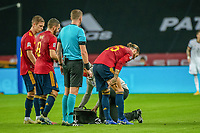 17th November 2020;  Estadio La Cartuja de Sevilla, Seville, Spain; UEFA Nations League Football, Spain versus Germany;   Sergio Ramos (esp) receives treatment