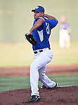 Fort Worth Cats Pitcher Dwayne Pollok (24) in action during the American Association of Independant Professional Baseball game between the Amarillo Sox and the Fort Worth Cats at the historic LaGrave Baseball Field in Fort Worth, Tx. Fort Worth defeats Amarillo 3 to 0......