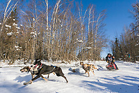 Musher Andy Huetten, 2007 Open North American Championship sled dog race (the world's premier sled dog sprint race) is held annually in Fairbanks, Alaska.