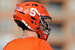 Baltimore, MD - March 17: Attackmen tommy palasek #14 of the Syracuse Orangemen during the Syracuse v Johns Hopkins mens lacrosse game at  Homewood Field on March 17, 2012 in Baltimore, MD.(Ryan Lasek/Eclipse Sportswire)