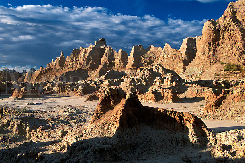 Claystone formations near the Door Trail Badlands National Park South Dakota.