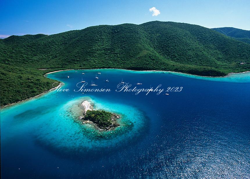 Waterlemon Cay  and Leinster Bay<br /> Virgin Islands National Park<br /> St. John<br /> U.S. Virgin Islands