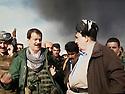 Iraq 2014, November 26, on the front near Kirkuk, Hama Haji Mahmoud and Kemal Kirkuki  Irak 2014  Le 26 novembre, sur le front pres de Kirkouk, Hama Haji Mahmoud et Kemal Kirkouki